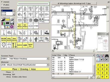 HVAC Piping Estimating Software, Plumbing Estimating, Wendes, HVAC ...