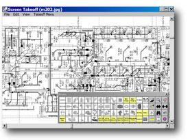 On-Screen Sheet Metal and Piping Estimating Takeoff